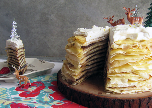 Crepe Cake Sliced // take a megabite