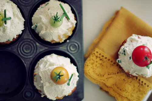 Sweet Potato Cheddar Cupcake // take a megabite