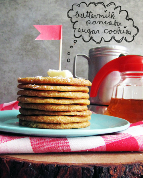 Buttermilk Pancake Sugar Cookies // take a megabite