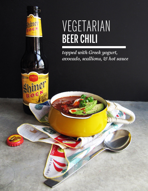 Vegetarian Beer Chili // take a megabite