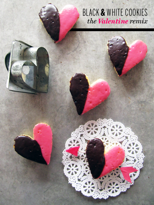 Black &amp; White Cookie Valentines  // take a megabite