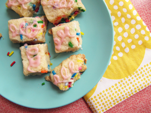 Funfetti Shortbread // take a megabite