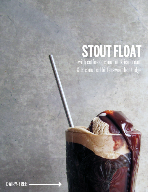 Dairy-Free Stout Float // take a megabite