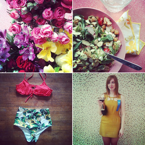 Flowers, salad, bikini, martini // take a megabyte