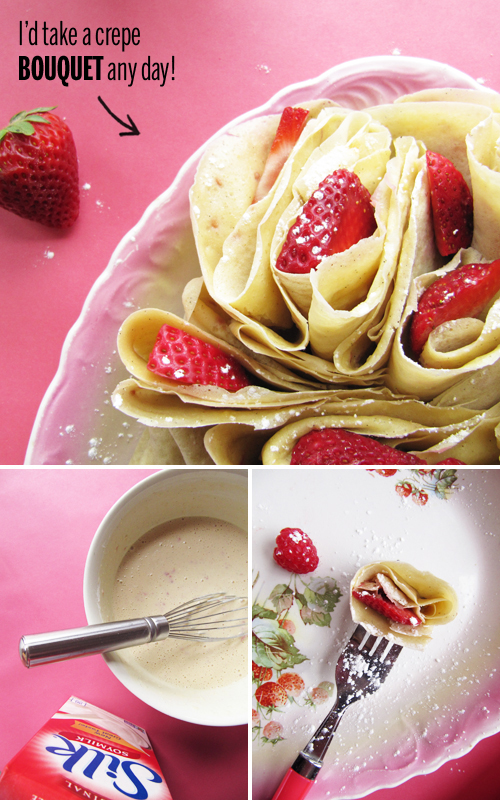 Berry Crepes with Silk Soymilk // take a megabite