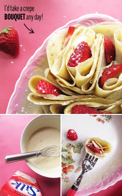 Berry Crepes with Silk Soymilk // take a megabite