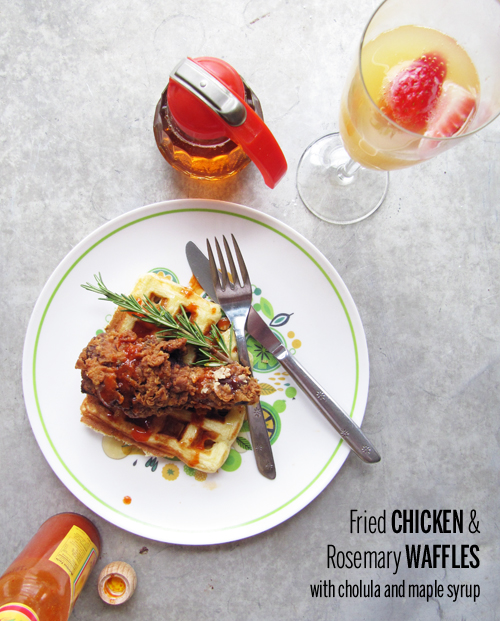 Fried Chicken and Rosemary Waffles // take a megabite