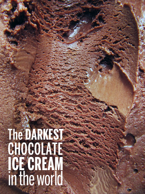 The Darkest Chocolate Ice Cream In The World // take a megabite