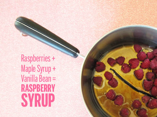 Raspberry Syrup // take a megabite