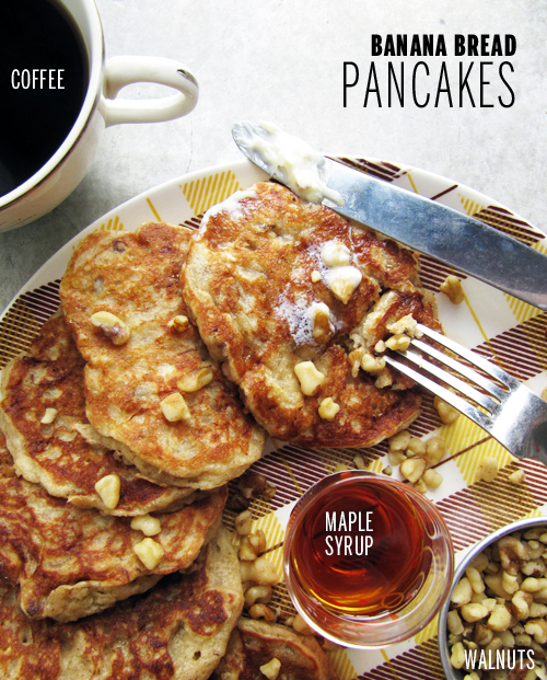 Banana Bread Pancakes // take a megabite