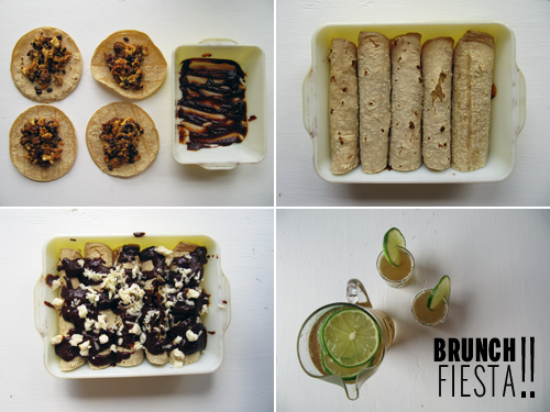 Brunch Fiesta with Brunchiladas and Mimosaritas / / takeamegabite