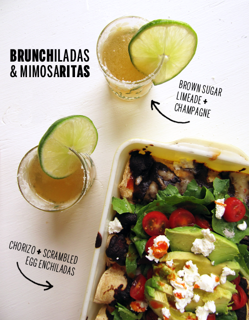 Brunchiladas and Mimosaritas // takeamegabite