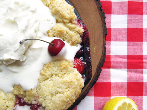 Sour Cherry Cobbler // take a megabite