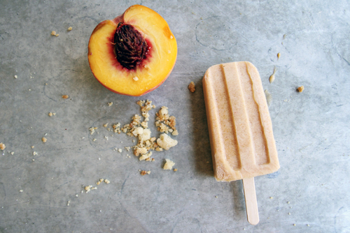 Peach Pie Popsicles // take a megabite
