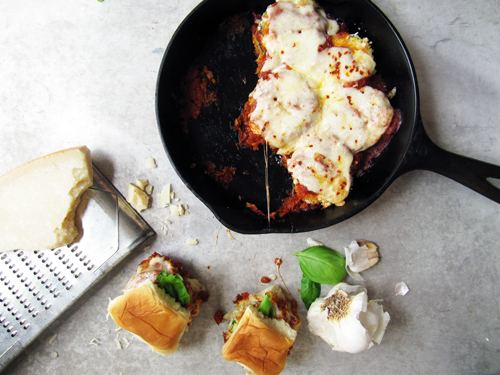 Zucchini Parmesan Slider // take a megabite