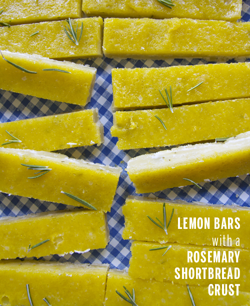 Lemon Bars with a Rosemary Shortbread Crust // take a megabite