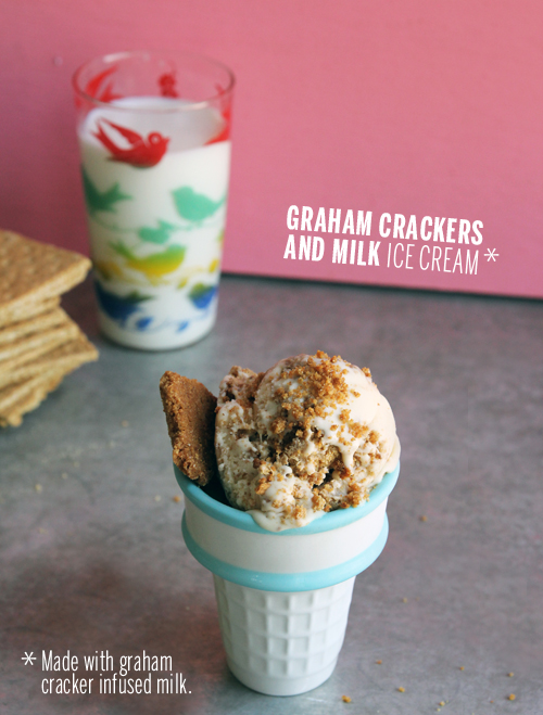Graham Crackers and Milk Ice Cream // take a megabite