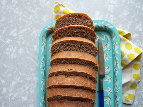 Peanut Banana Wheat Bread // take a megabite