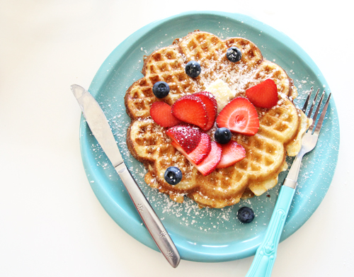 Super Crispy Brown Butter Yeast Waffles // take a megabite