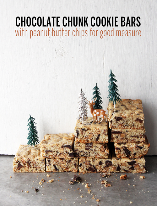 Chocolate Chunk Cookie Bar Mountain // take a megabite
