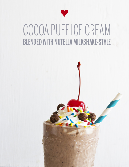 Cocoa Puff Ice Cream Milkshake // take a megabite