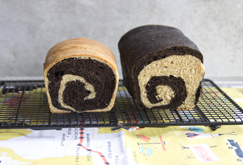 Chocolate Peanut Butter Swirl Bread // take a megabite