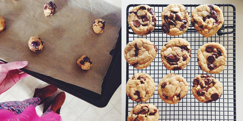 Thick and Chewy Chocolate Chip Cookies with Brown Butter // take a megabite