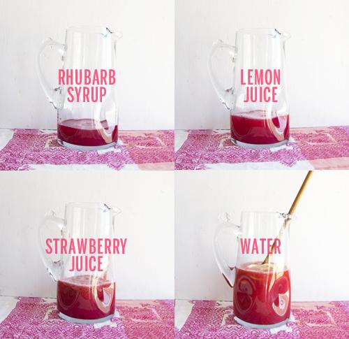 Strawberry Rhubarb Lemonade Steps // take a megabite