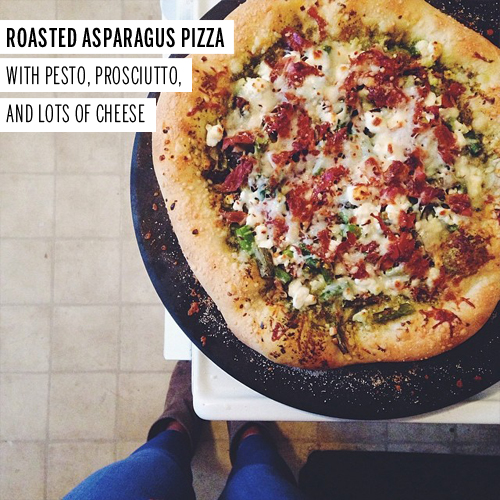 Roasted Asparagus Pizza // take a megabite