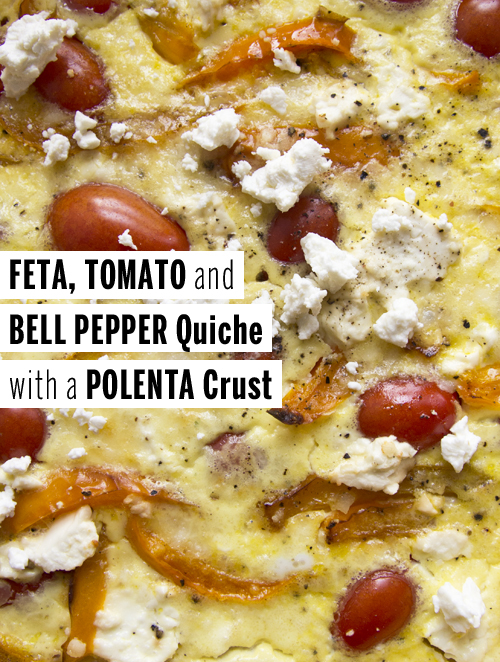 Feta, Tomato,  and Bell Pepper Quiche // take a megabite