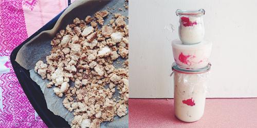 Rhubarb Crumble Ice Cream // take a megabite