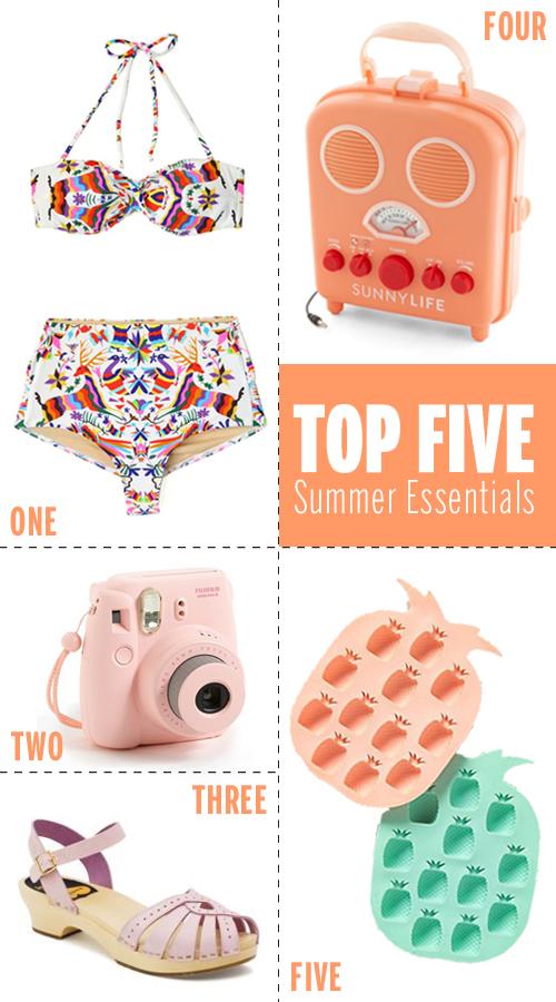 My Top Five Summer Essentials // take a megabite