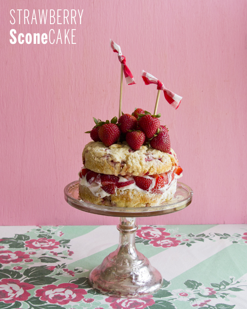 Strawberry Sconecake // take a megabite