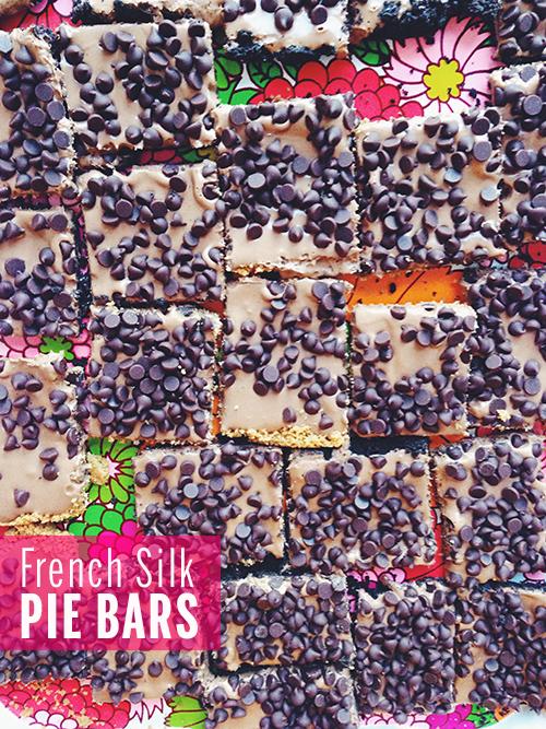 French Silk Pie Bars // take a megabite