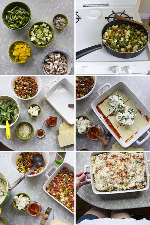 Veggie Lasagna with Stella Artois // take a megabite