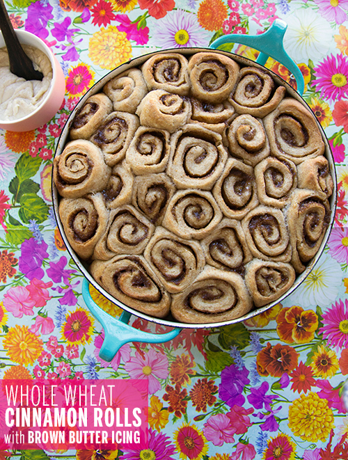 Whole Wheat Cinnamon Rolls // take a megabite