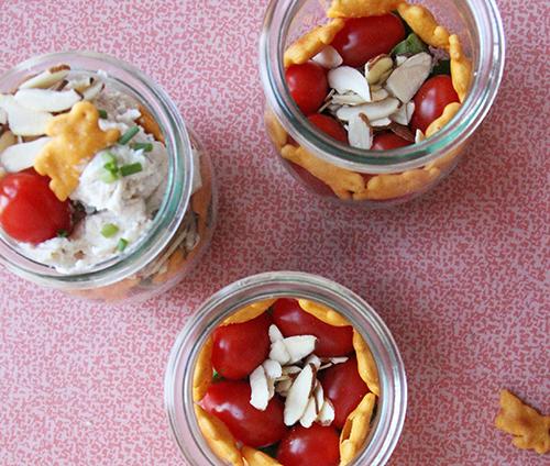Savory Chicken Salad Parfait // take a megabite
