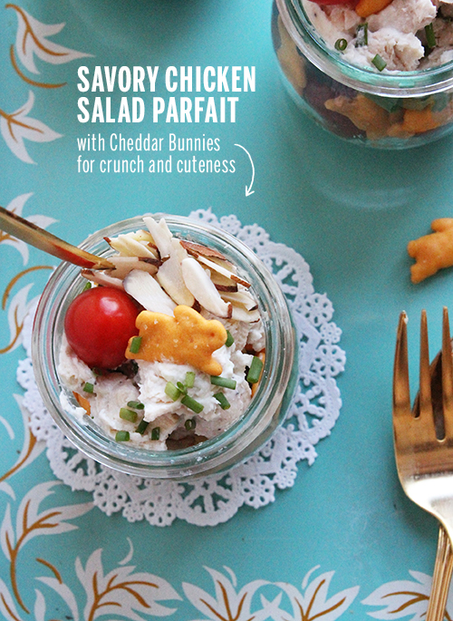 Savory Chicken Salad Parfait // take a megabite