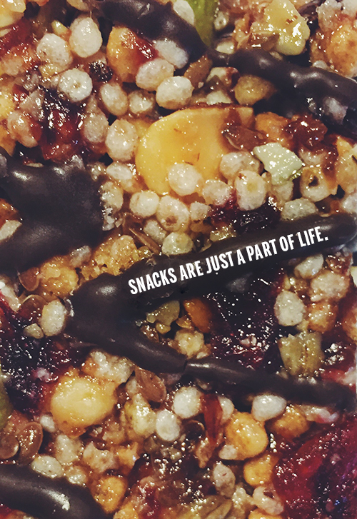 Snacks are just a part of life. // take a megabite