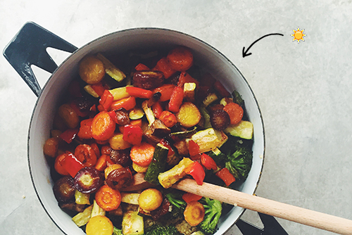 Vegan Roasted Veggie Bowl // take a megabite