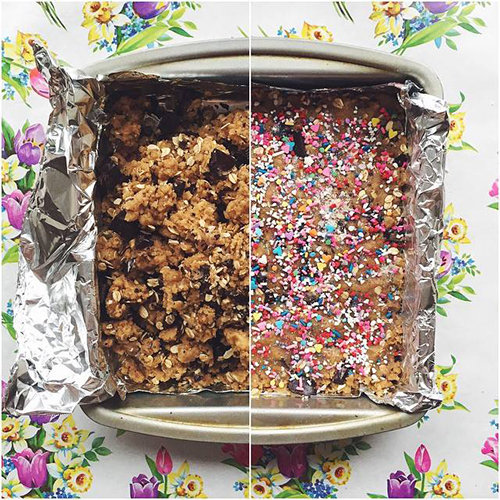 Vegan Sprankle Blondies // take a megabite