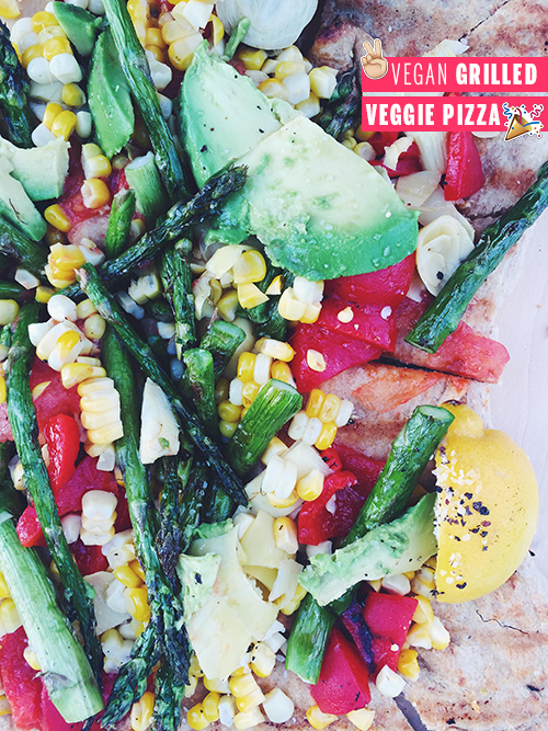 Vegan Grilled Veggie Pizza // take a megabite