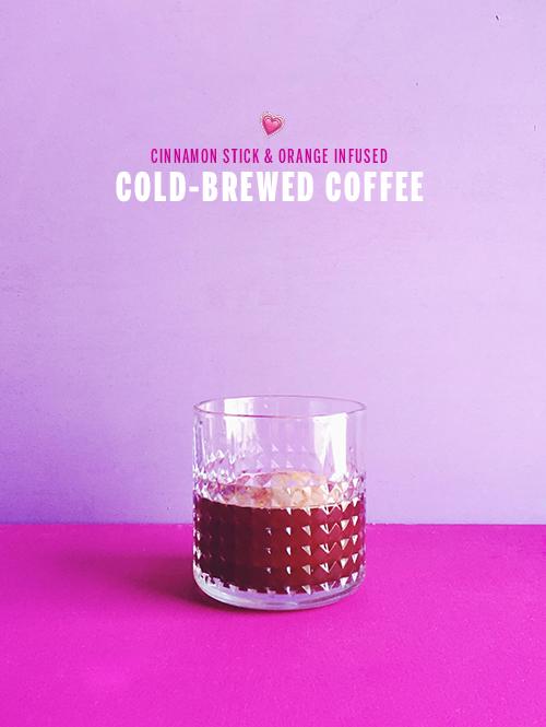 Cinnamon Stick & Orange Infused Cold Brewed Coffee // take a megabite