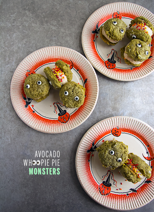 Avocado Whoopie Pie Monsters // take a megabite