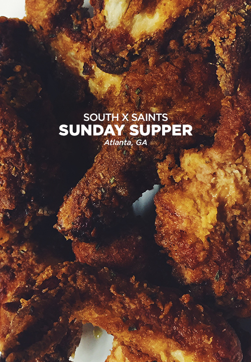 South x Saints Sunday Supper // take a megabite