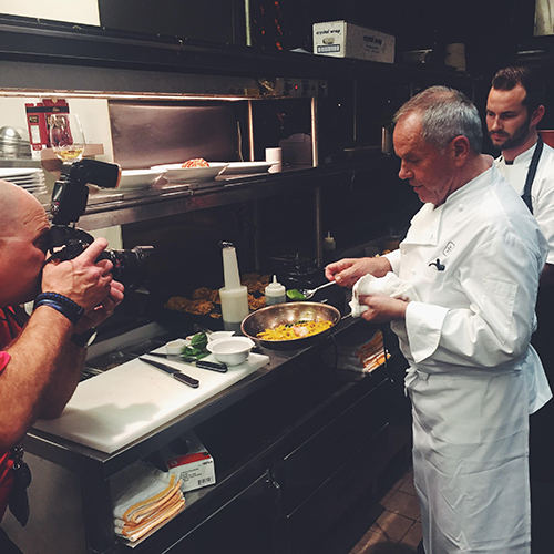 Lunch with Wolfgang Puck // take a megabite