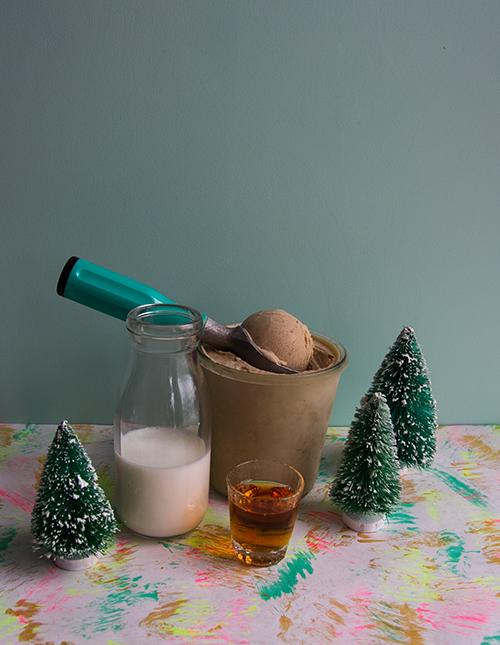 Boozy Egg Nog Milkshake // take a megabite