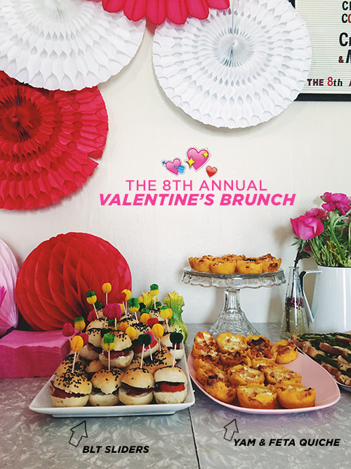 The 8th Annual Valentine's Brunch Party // take a megabite