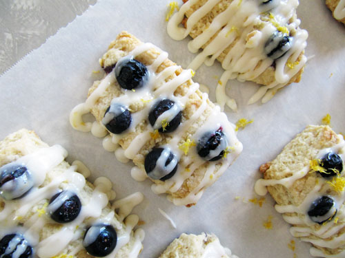 Meyer Lemon & Blueberry Scones