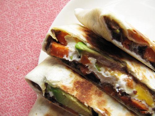 Sweet Potato And Black Bean Quesadillas With Swiss Chard ...